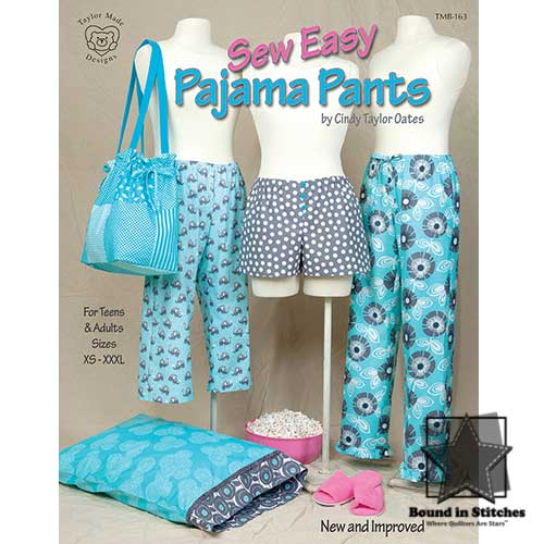 Sew Easy Pajama Pants by Taylor Made Designs