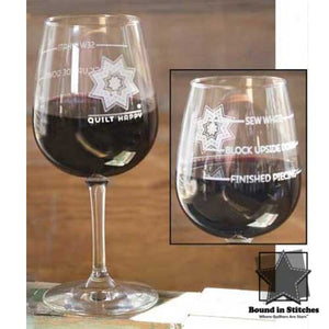 Quilt Happy Sew What Wine Glass  |  Bound in Stitches