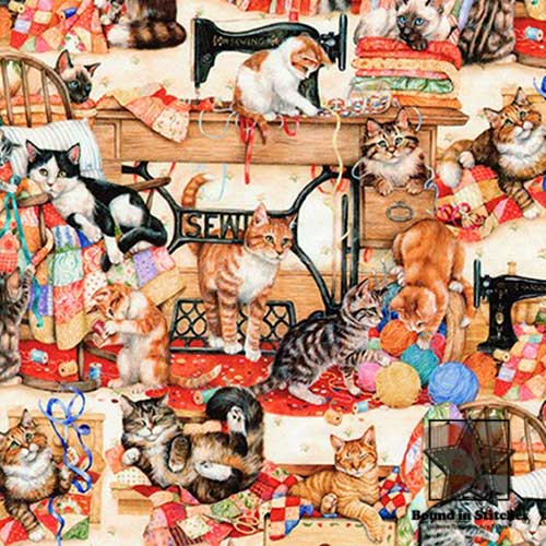 Sewing Buddies fabric by Robert Kaufman