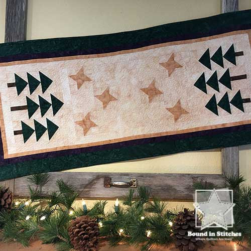 Starry Pines Table Runner  |  Bound in Stitches