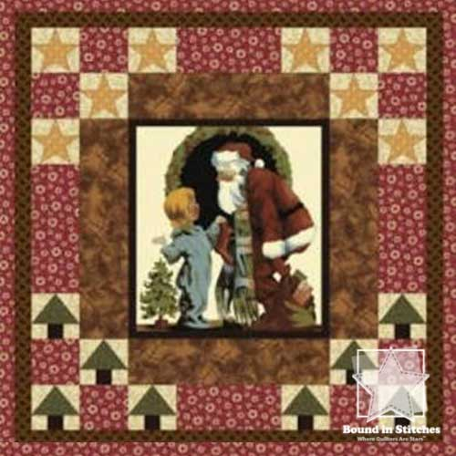 Thimbleberries St. Nick Cover Story Panel  |  Bound in Stitches