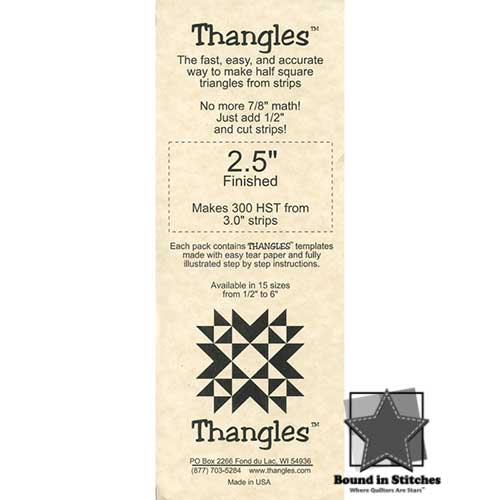 "Thangles™ - 2.5"" Finished"