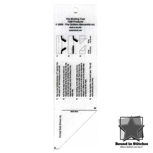 The Binding Tool Template Ruler by TQM  |  Bound in Stitches