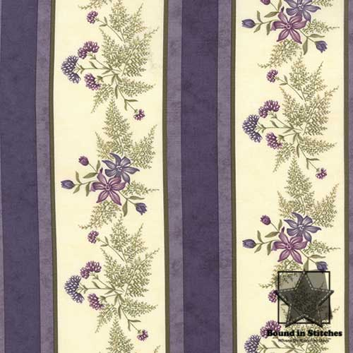 Moda The Potting Shed 6621-16 Violet Stripe by Holly Taylor