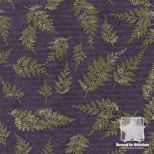 Moda The Potting Shed 6622-16 Leaf Spray Violet by Holly Taylor
