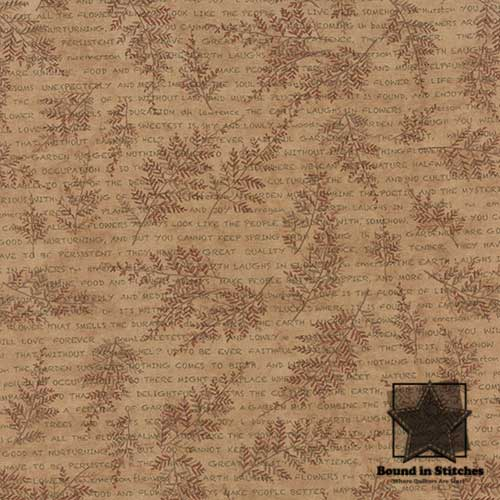 Moda The Potting Shed 6622-17 Leaf Spray Sand by Holly Taylor