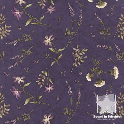 Moda The Potting Shed 6626-16 Floral Violet by Holly Taylor