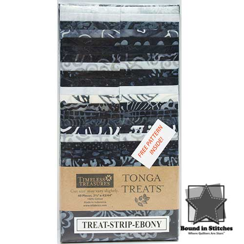 Timeless Treasures Tonga Treats Strip - Ebony  |  Bound in Stitches