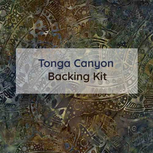 Tonga Canyon Block of the Month Program by Wing and A Prayer Design Backing Kit