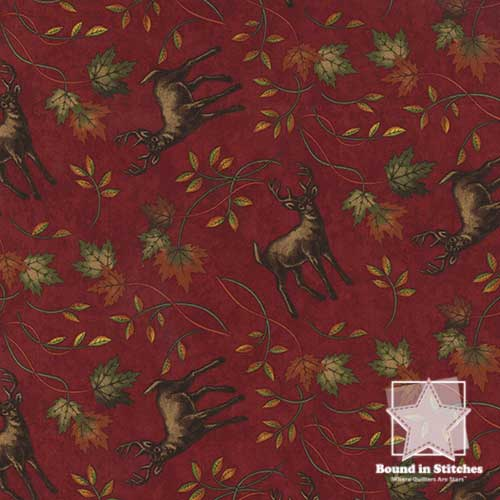 Moda Turning Leaves 6573-13 Magenta  |  Holly Taylor