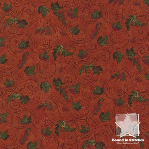Moda Turning Leaves 6574-15 Burnt Orange  |  Holly Taylor