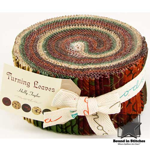 Moda Turning Leaves - Jelly Roll  |  Bound in Stitches