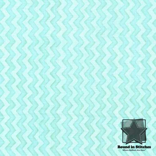 Henry Glass Two by Two 6302-11 Mint Chevron by Beth Logan