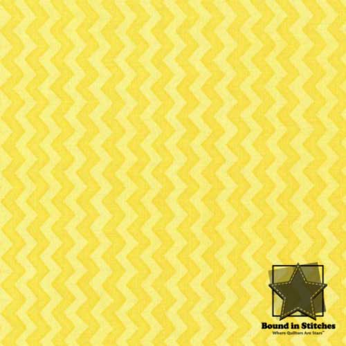 Henry Glass Two by Two 6302-44 Yellow Chevron by  Beth Logan