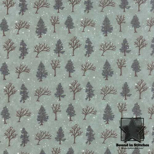 Winter Forest Flannel 6602-20F Eucalyptus by Moda  |  Bound in Stitches