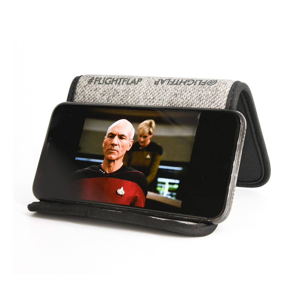 The FLIGHT FLAP Pro - Phone & Tablet Holder, Specifically Designed for Air Travel (buy 2 or more for FREE SHIPPING)