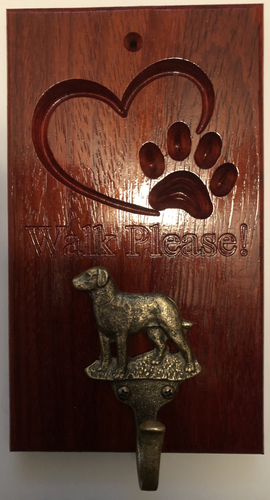 Dog lease hanger