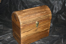 Load image into Gallery viewer, Custom Wood Wedding Card Box with fillable slot