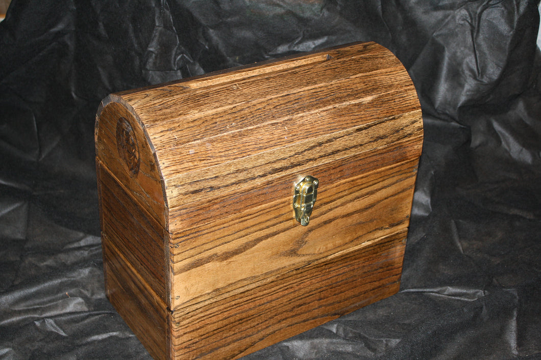 Custom Wood Wedding Card Box with fillable slot