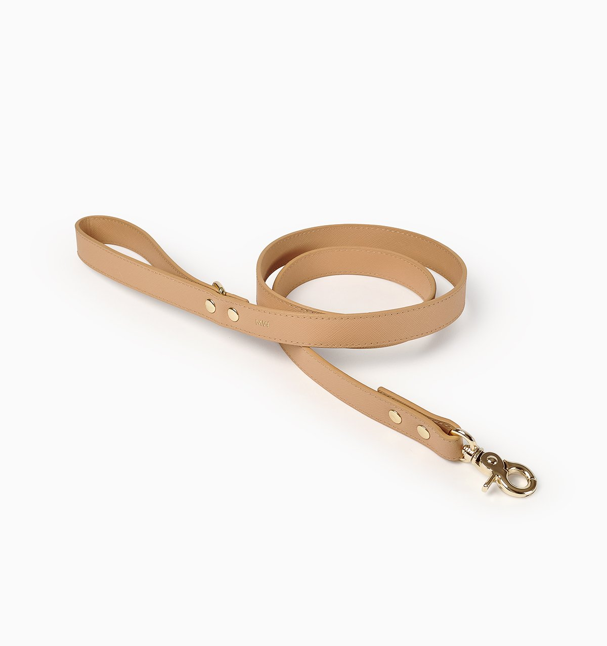 PUP LEATHER LEASH // TAN