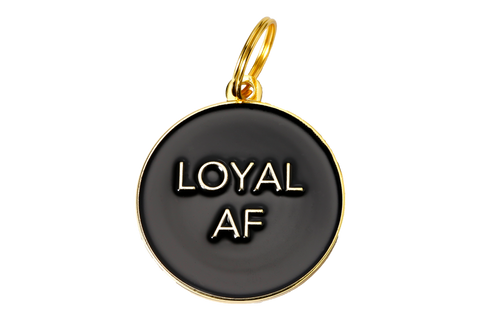 Loyal AF ID Tag //  Black