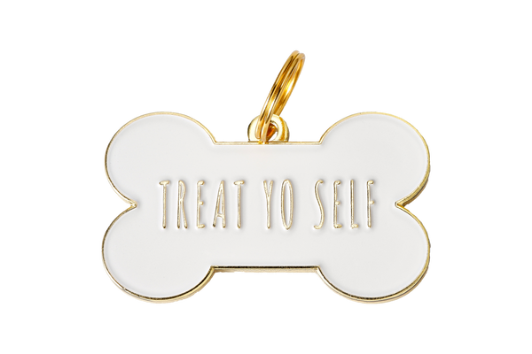 Treat Yo Self ID Tag // White