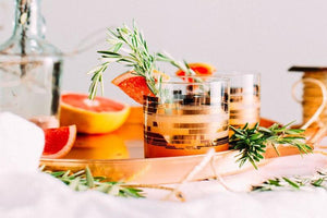 Healthy Holiday Cocktail: Blood Orange Rosemary Gin Fizz