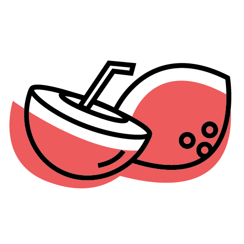 Coconut water illustration