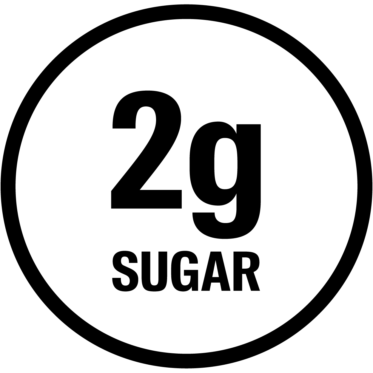 2g Sugar. No Added Sugar.