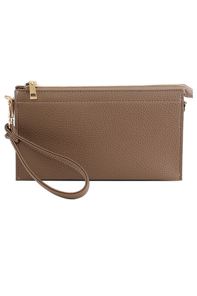 Abby Crossbody Handbag - Taupe