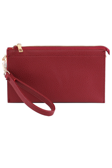 Abby Crossbody Handbag - Burgundy
