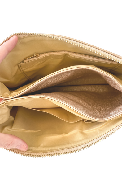 Abby Crossbody Handbag - Gold