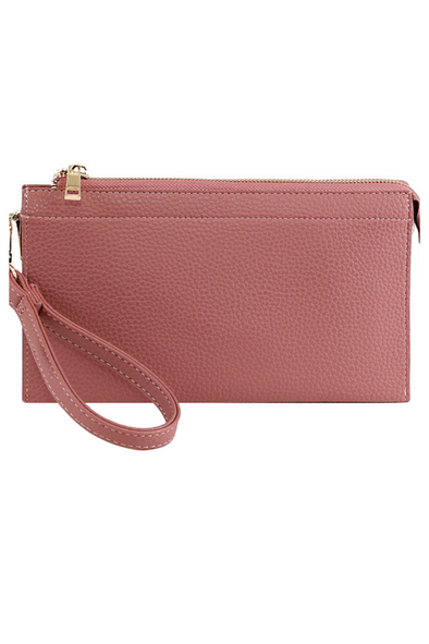 Abby Crossbody Handbag - Dark Pink