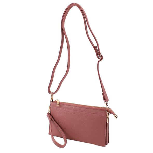 Abby Crossbody handbag you can wear 3 ways!  A clutch, wristlet, or cross body!