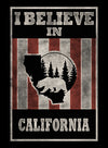 "12x18 Silkscreened ""I Believe In California "" poster"