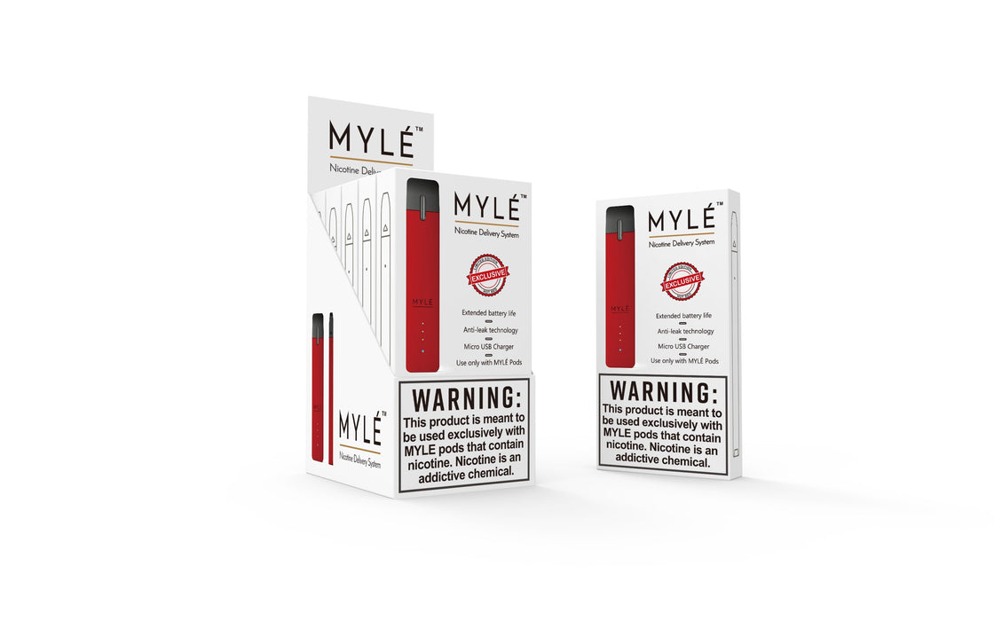 Myle Device Closed Pod System Myle Hot Red
