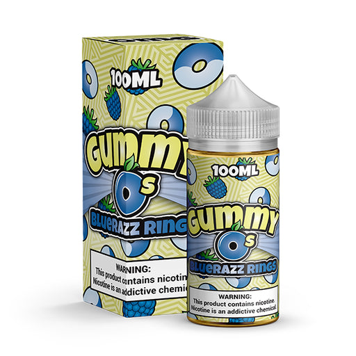 Gummy O's - Blue Razz Rings (100ML)