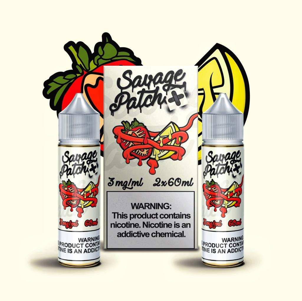 Savage Patch - Straw Lemon Patch (120ML) [2x60ML] E-juice Brands Savage Patch 0mg