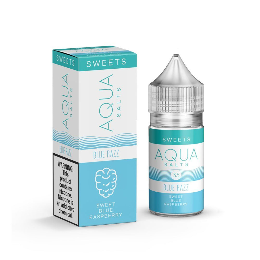 Aqua Salts - Blue Razz [Salt Nic] (30ML) Nic Salt Products Aqua [Salt Nic] 35mg