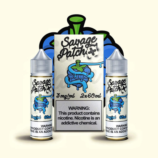Savage Patch - Blue Razz Patch (120ML) [2x60ML] E-juice Brands Savage Patch 3mg