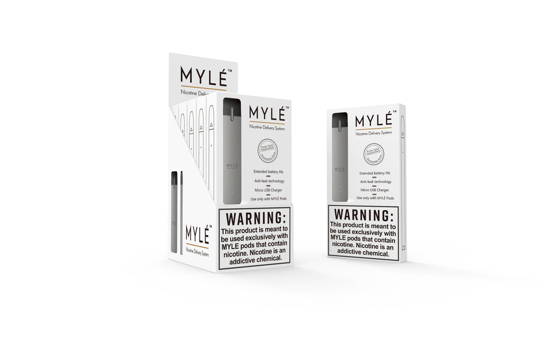 Myle Device Closed Pod System Myle Silver