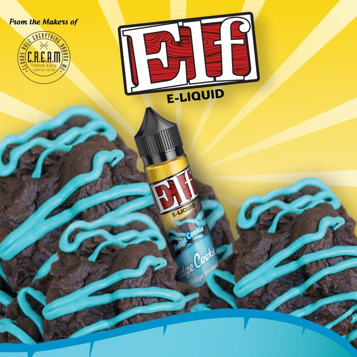 Elf E-liquid - Mr. Fudge Cookie (60ML) E-juice Brands Elf E-Liquid 0mg