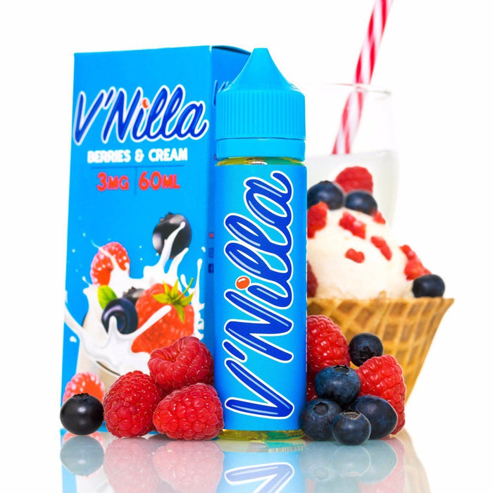 v'Nilla Vapers - Berries & Cream (60ML) E-juice Brands V'Nilla E-Juice 3mg