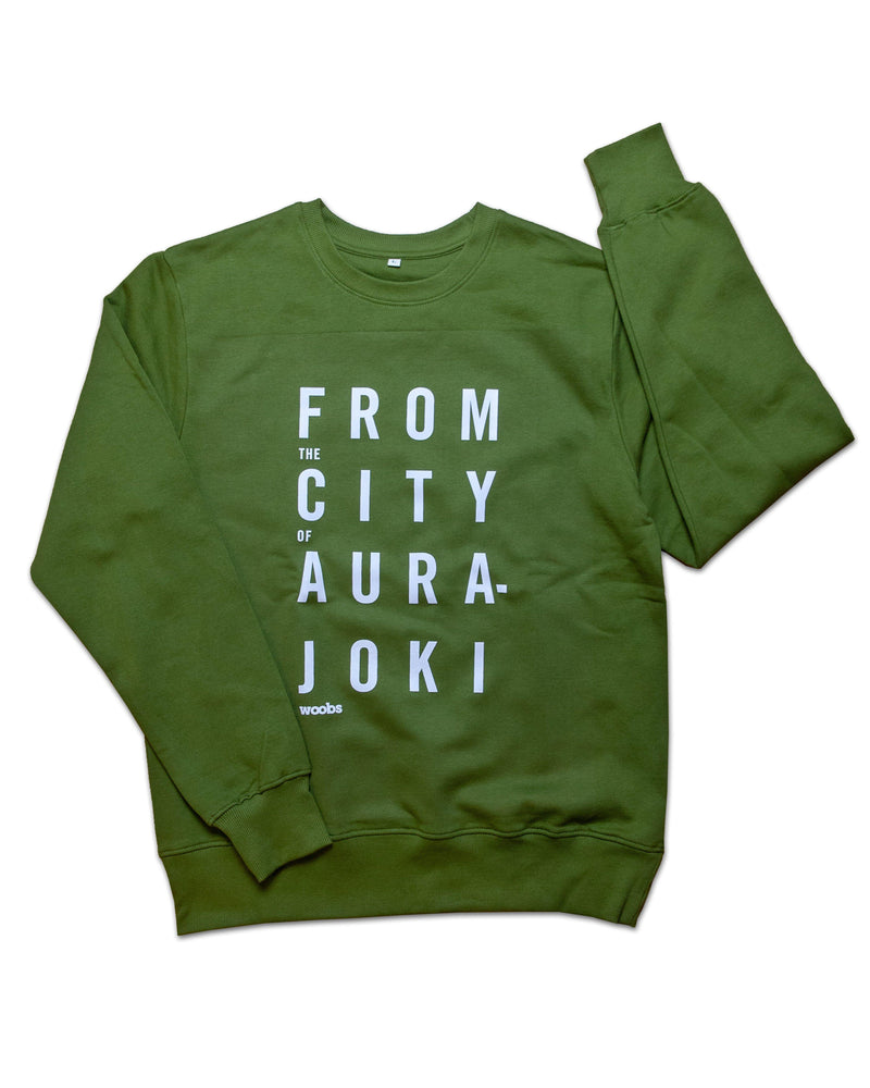 From The City Of Aurajoki sweatshirt, khaki green