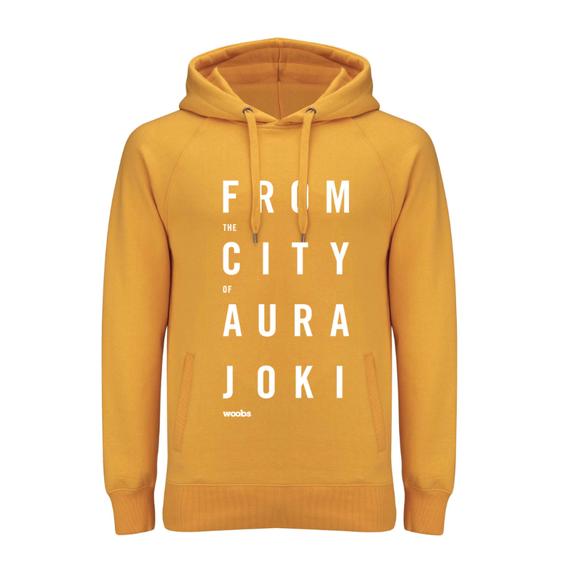 From The City Of Aurajoki, Hoodie, Yellow