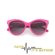 Faith | Vaaleanpunainen | Harmaa - Woobs Design