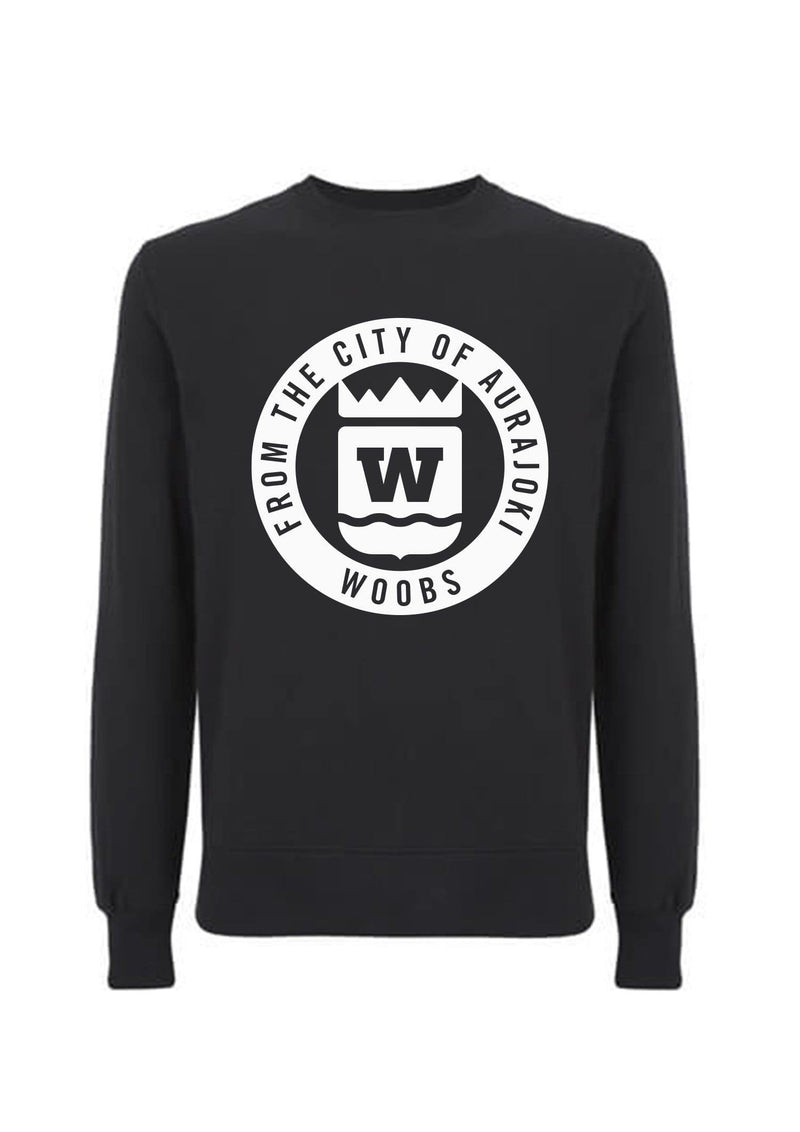 From The City Of Aurajoki, Symbol, Sweatshirt, Black