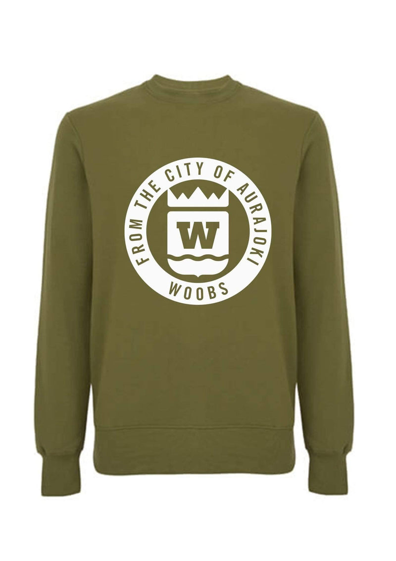 From The City Of Aurajoki, Symbol, Sweatshirt, Khaki Green