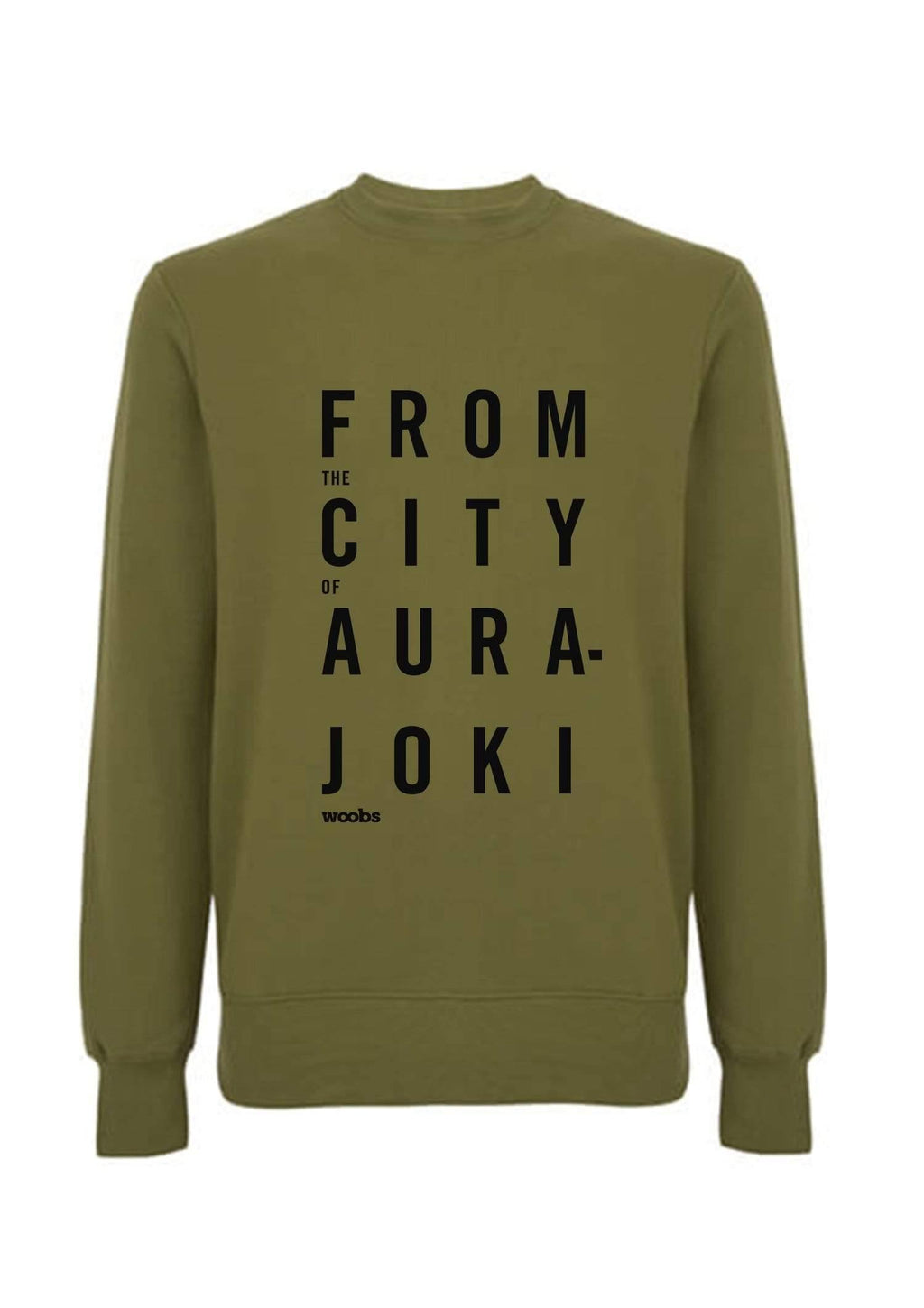 From The City Of Aurajoki, Lyric, Sweatshirt, Khaki Green, PRE-SALE