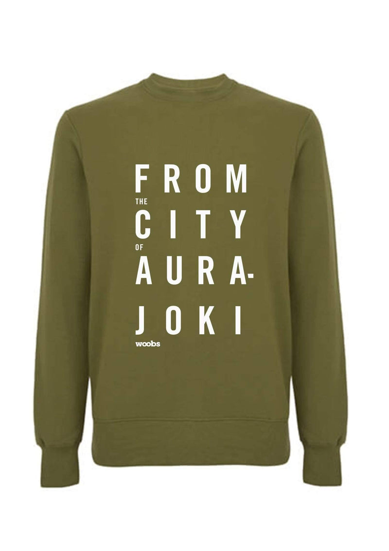 From The City Of Aurajoki, Lyric, Sweatshirt, Khaki Green